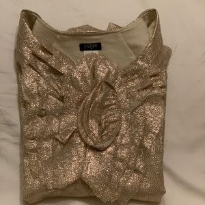 JCrew Holiday Glitter Top
